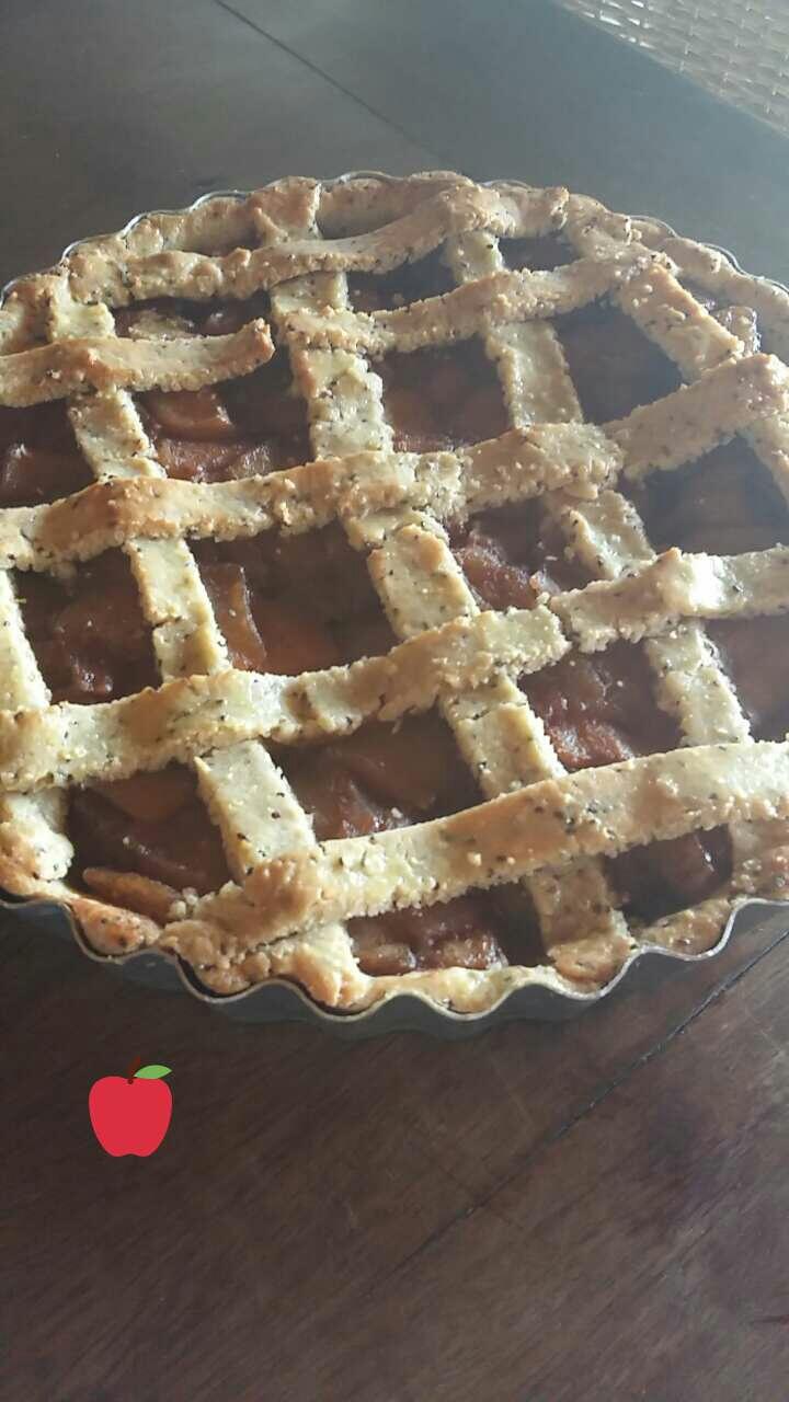 Torta de maçã sem glúten e semlactose