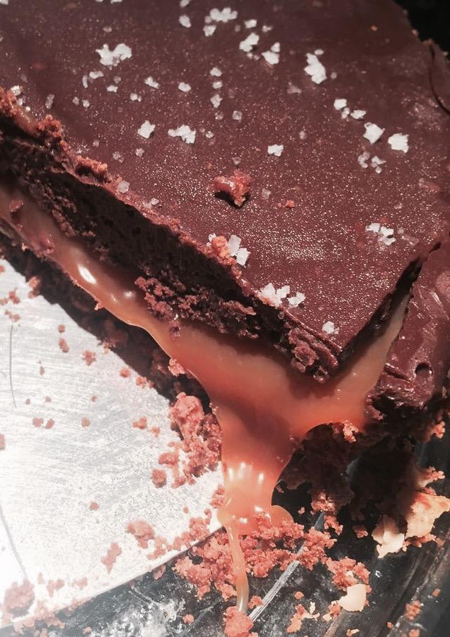 Torta de Chocolate com CarameloSalgado